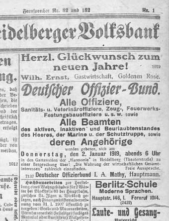 Heidelberger Zeiting of 1919