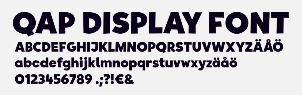 QAP font charset overview